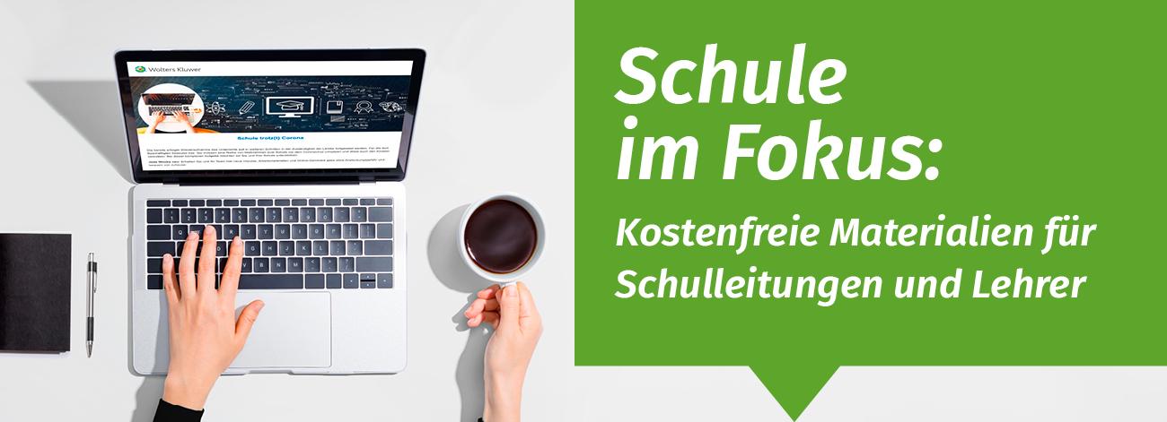 """Aufmacherfoto """"Schule im Fokus"""" Sonderseite mit Gratis-Materialien und Informationen für Schulleiter, schulverwaltung.de"""